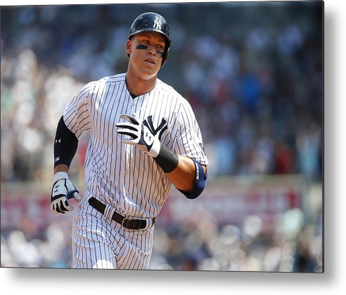 Second Inning Metal Print featuring the photograph Aaron Judge by Rich Schultz