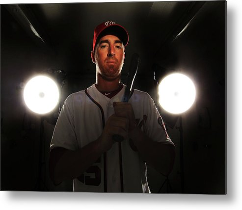 Media Day Metal Print featuring the photograph Adam Laroche by Al Bello