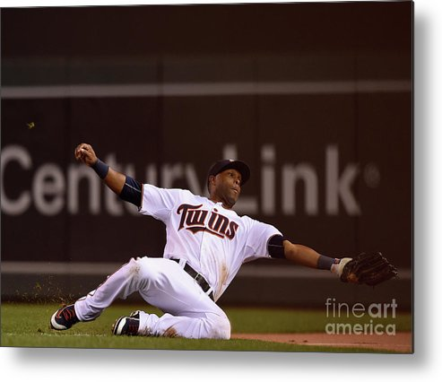 People Metal Print featuring the photograph Albert Pujols and Torii Hunter by Hannah Foslien