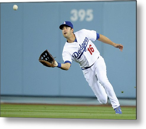 California Metal Print featuring the photograph Andre Ethier and Chris Owings by Harry How