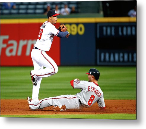 Atlanta Metal Print featuring the photograph Andrelton Simmons and Danny Espinosa by Kevin C. Cox