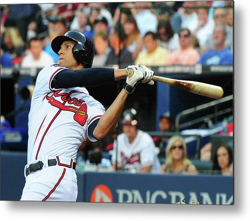 Atlanta Metal Print featuring the photograph Andrelton Simmons by Scott Cunningham