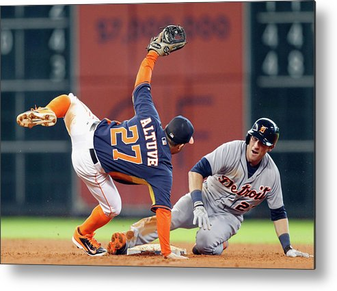 Andrew Romine Metal Print featuring the photograph Andrew Romine by Bob Levey