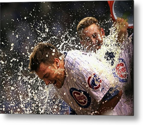 People Metal Print featuring the photograph Anthony Rizzo and Kris Bryant by Jonathan Daniel