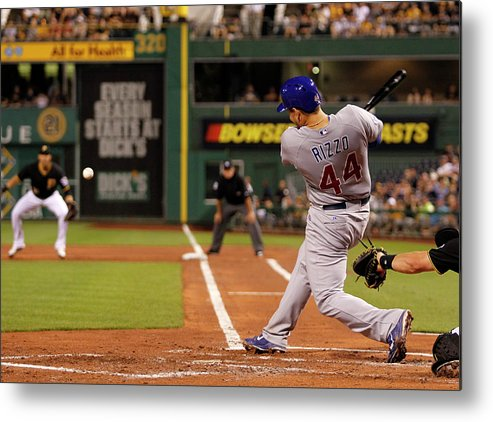 People Metal Print featuring the photograph Anthony Rizzo by Justin K. Aller