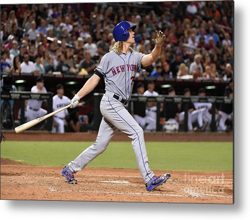People Metal Print featuring the photograph Braden Shipley and Noah Syndergaard by Norm Hall