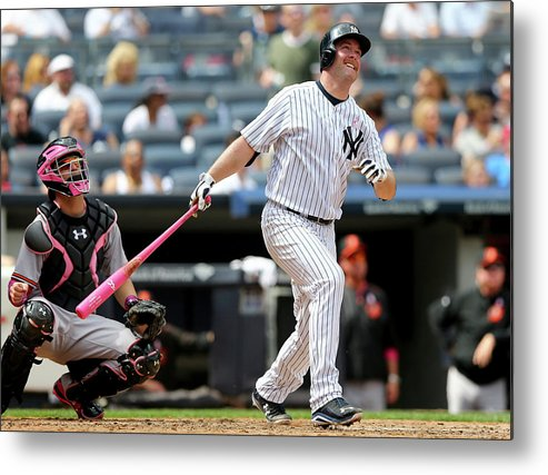 Brian Mccann Metal Print featuring the photograph Brian Mccann and Caleb Joseph by Elsa
