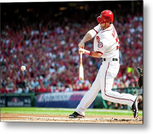 St. Louis Cardinals Metal Print featuring the photograph Bryce Harper by Rob Tringali