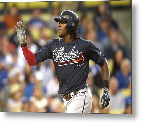 Three Quarter Length Metal Print featuring the photograph Cameron Maybin by Harry How
