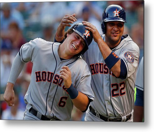 Second Inning Metal Print featuring the photograph Carlos Corporan by Tom Pennington