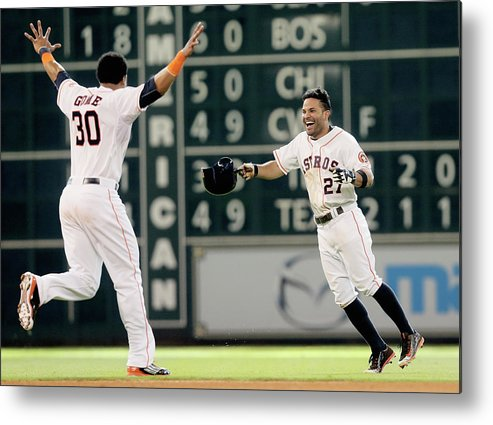 Ninth Inning Metal Print featuring the photograph Carlos Gomez by Bob Levey