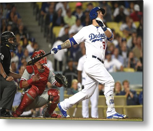 People Metal Print featuring the photograph Carlos Ruiz and Yasmani Grandal by Harry How