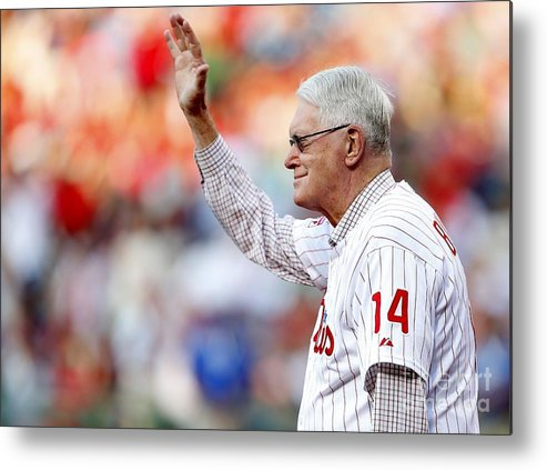 People Metal Print featuring the photograph Charlie Manuel and Jim Bunning by Rich Schultz