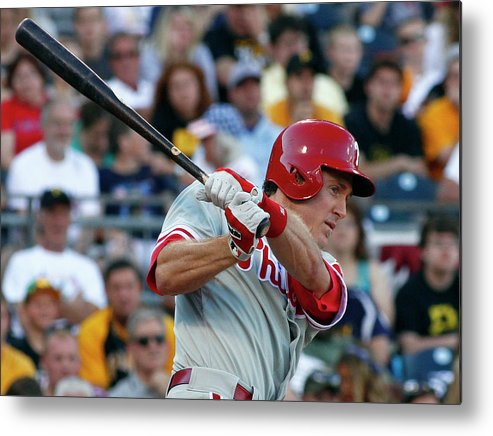 Professional Sport Metal Print featuring the photograph Chase Utley by Justin K. Aller