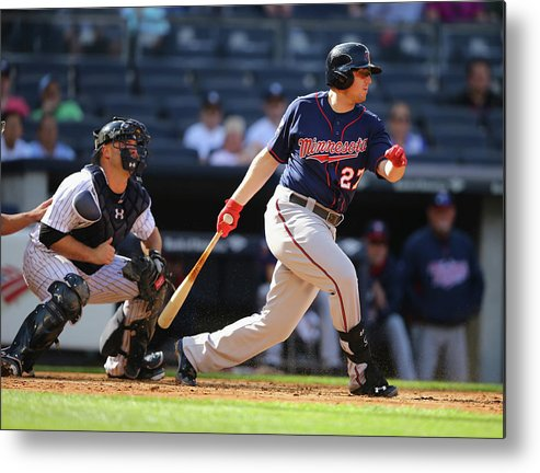 American League Baseball Metal Print featuring the photograph Chris Parmelee by Al Bello