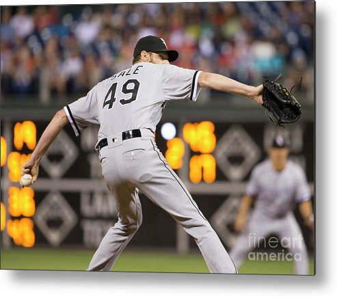 Three Quarter Length Metal Print featuring the photograph Chris Sale by Mitchell Leff