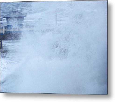 Waves Metal Print featuring the photograph Close one by Christopher Rowlands