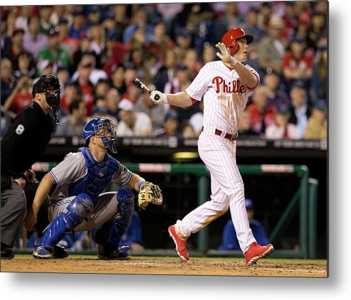 Majestic Metal Print featuring the photograph Cody Asche by Mitchell Leff