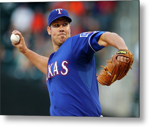 Second Inning Metal Print featuring the photograph Colby Lewis by Rich Schultz