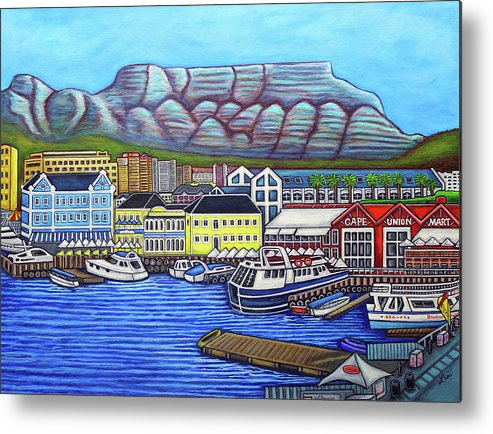 Cape Town Metal Print featuring the painting Colors of Cape Town by Lisa Lorenz
