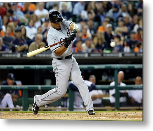 American League Baseball Metal Print featuring the photograph Conor Gillaspie by Duane Burleson