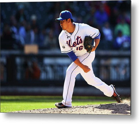 Ninth Inning Metal Print featuring the photograph Daisuke Matsuzaka by Al Bello