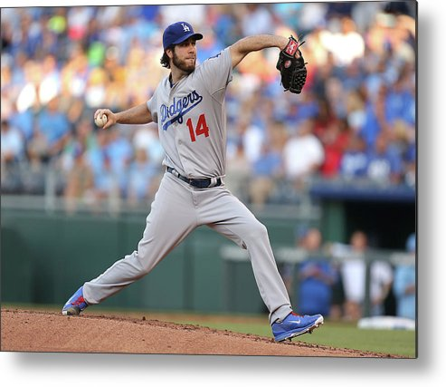 American League Baseball Metal Print featuring the photograph Dan Haren by Ed Zurga