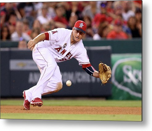 American League Baseball Metal Print featuring the photograph David Freese by Stephen Dunn