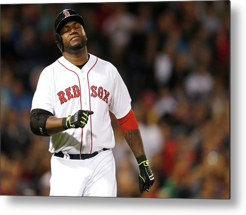 American League Baseball Metal Print featuring the photograph David Ortiz by Jim Rogash