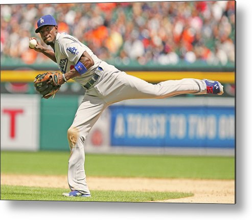American League Baseball Metal Print featuring the photograph Dee Gordon by Duane Burleson