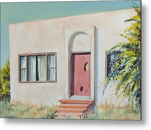 House Metal Print featuring the painting Once was a Home by Philip Fleischer