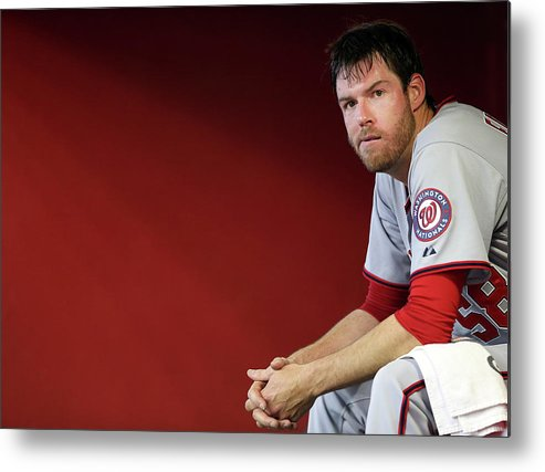 Doug Fister Metal Print featuring the photograph Doug Fister by Christian Petersen