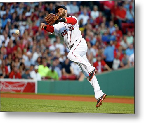 People Metal Print featuring the photograph Dustin Pedroia and Travis Snider by Winslow Townson