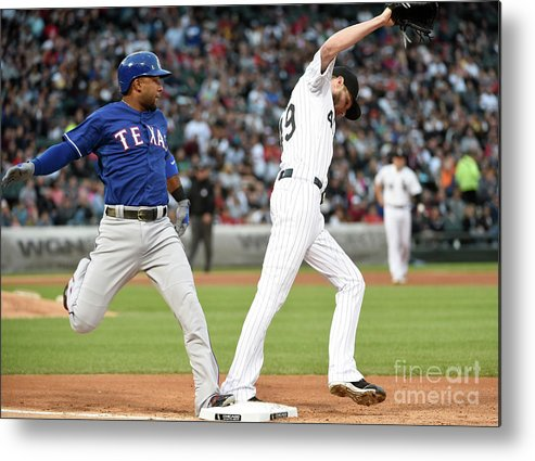 People Metal Print featuring the photograph Elvis Andrus and Chris Sale by David Banks