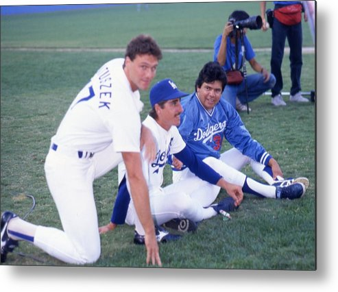 1980-1989 Metal Print featuring the photograph Fernando Valenzuela by Donaldson Collection