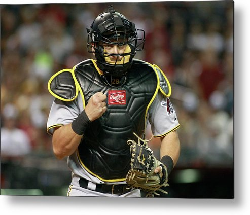 Baseball Catcher Metal Print featuring the photograph Francisco Cervelli by Ralph Freso