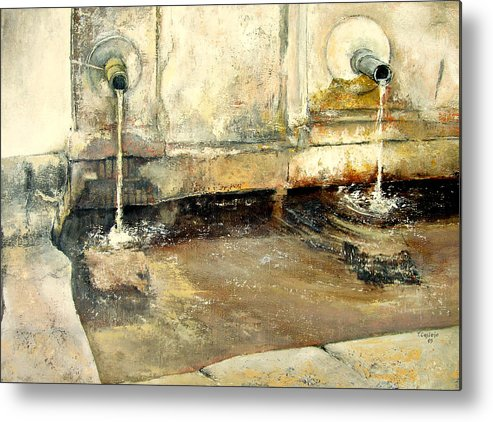 Fuente Metal Print featuring the painting Fuente by Tomas Castano
