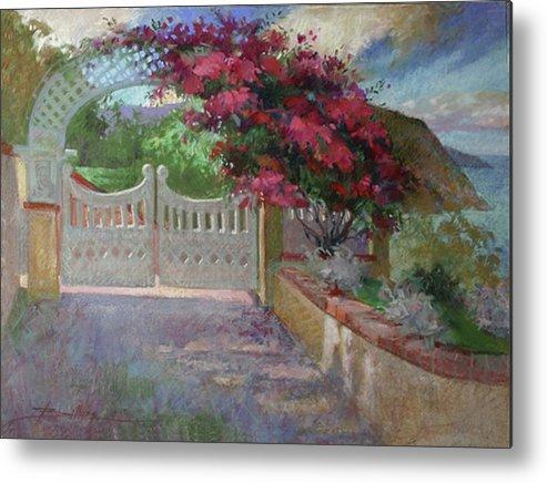 Catalina Island Metal Print featuring the painting Gateway Splendor - Catalina Island by Betty Jean Billups