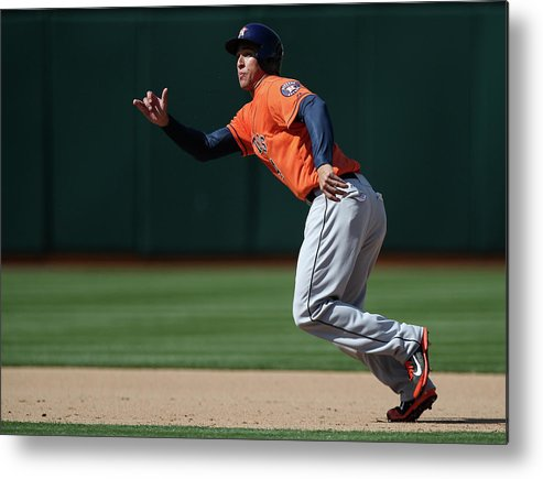 American League Baseball Metal Print featuring the photograph George Springer by Brad Mangin