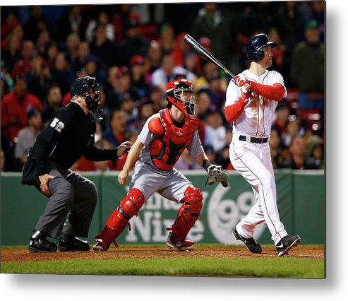 American League Baseball Metal Print featuring the photograph Grady Sizemore by Jared Wickerham