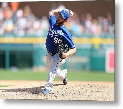 Ninth Inning Metal Print featuring the photograph Greg Holland by Leon Halip