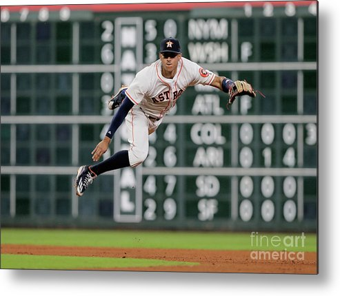 People Metal Print featuring the photograph Ian Desmond and Carlos Correa by Bob Levey