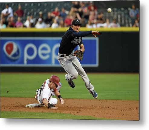 Double Play Metal Print featuring the photograph Jace Peterson and Chris Owings by Norm Hall