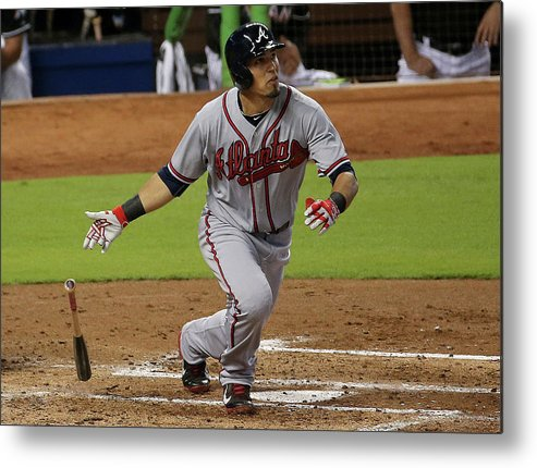 Second Inning Metal Print featuring the photograph Jace Peterson by Mike Ehrmann