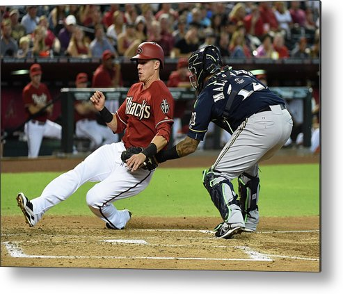 Second Inning Metal Print featuring the photograph Jake Lamb by Norm Hall