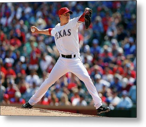 American League Baseball Metal Print featuring the photograph Jason Frasor by Tom Pennington