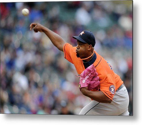 American League Baseball Metal Print featuring the photograph Jerome Williams by Hannah Foslien