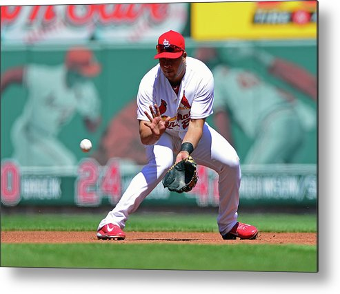 St. Louis Cardinals Metal Print featuring the photograph Jhonny Peralta by Jeff Curry