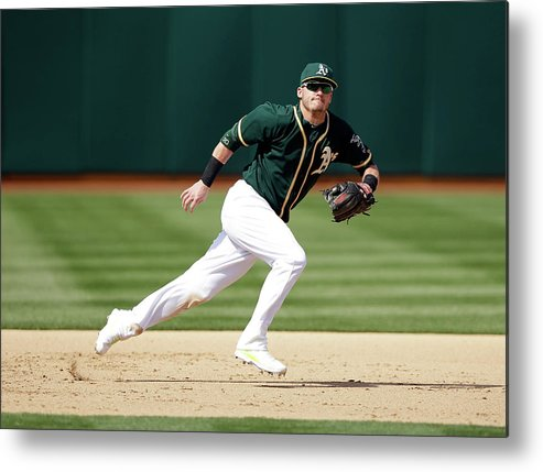 American League Baseball Metal Print featuring the photograph Josh Donaldson by Ezra Shaw