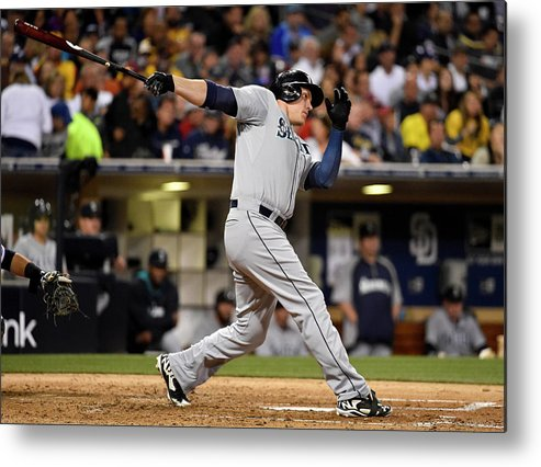 American League Baseball Metal Print featuring the photograph Logan Morrison by Denis Poroy